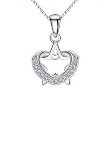 LYCKA silver LPP88128 S925 Silver Necklace C024FAC2E508A5GS_1