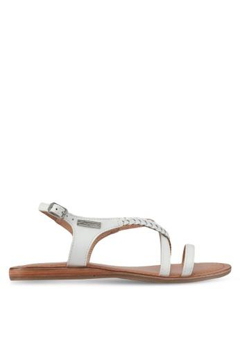 Les Tropeziennes Par M. Belarbi white Hanano White Braided Strap Leather Sandals 9819BSHF1F1DE4GS_1