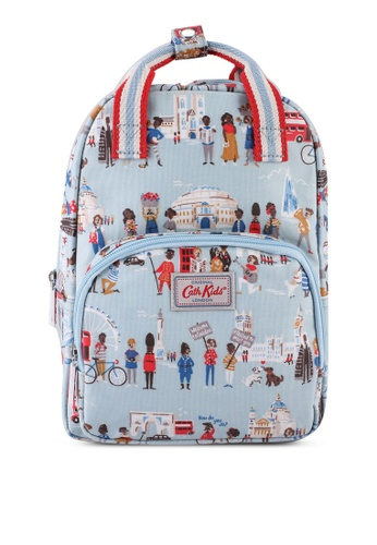 Cath Kidston blue London People Kids Backpack With Chest Strap D996FKC289A590GS_1