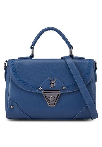 PLAYBOY BUNNY blue Playboy Bunny Top Handle Bag PL604AC83AXWMY_1