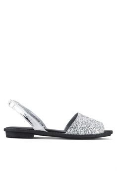 Glitter Open Toe Sandals