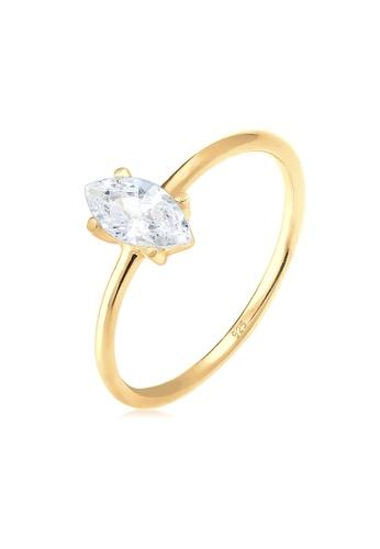 ELLI GERMANY gold Elli Germany Ring Marquise Zirconia Minimal Silver Gold Plated 07815AC67F2AF1GS_1