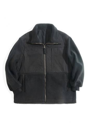 Twenty Eight Shoes black VANSA Vintage Polar Fleece Coat  VCM-C2007187 64E9EAA7A412F2GS_1