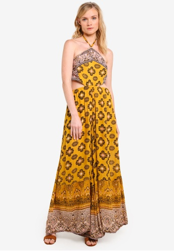 Free People yellow and gold Maribelle Jumpsuit FR659AA0RO38MY_1