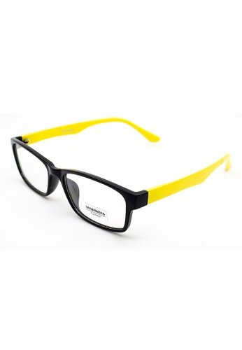 62cd307e98a Buy Elitrend Plastic Frame Glasses with Yellow Arm Online on ZALORA  Singapore