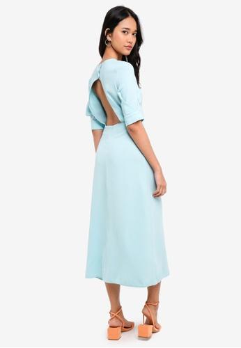 Buy Topshop Seamed Crepe Midi Dress Online On Zalora Singapore