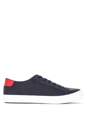 Penshoppe navy Lace-Up Sneakers 8CDC7SH0C8373EGS_1