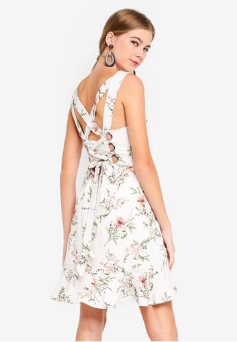 809a1ac033 Shop INDIKAH Cross Back Floral Skater Dress Online on ZALORA Philippines