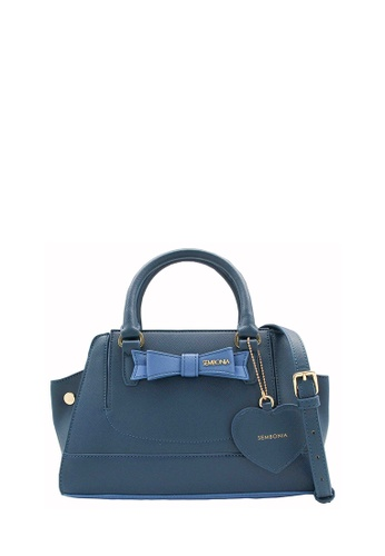 SEMBONIA blue Synthetic Leather Tote Bag (Blue) SE598AC0RVVTMY_1