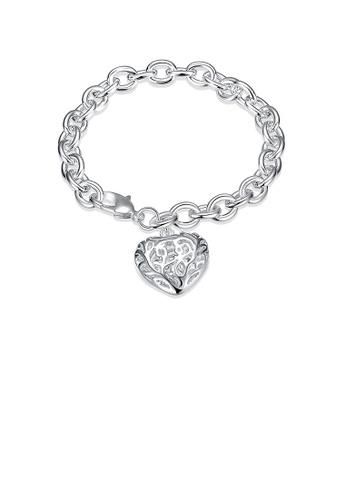 Glamorousky silver Romantic Heart Bracelet BC025AC8E01FF3GS_1