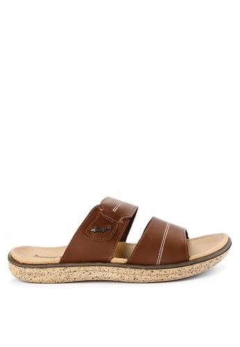 Homyped brown Captiva 02 Men Sandals 048F4SH61992E1GS_1