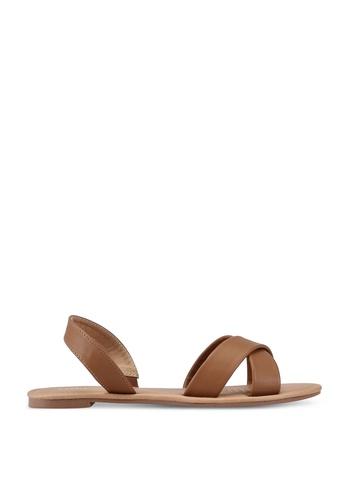 Rubi brown Everyday Banting Crossover Sandal B98E1SH3959620GS_1