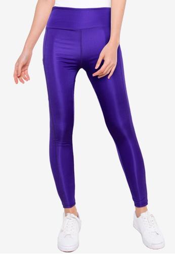 Trendyol purple Active Leggings with Back Zip BE8FAAABBFF1F0GS_1