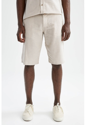 DeFacto 褐色 Regular Fit Cotton Bermuda 330ECAA2DDE991GS_1
