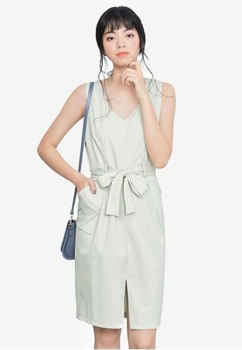 Kodz grey Sleeveless Shift Dress B68F4AA43FC230GS_1
