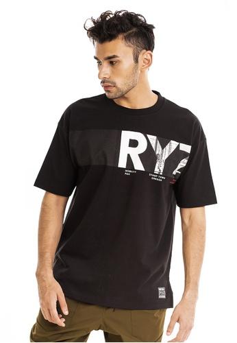 RYZ 黑色 RYZ 男子短袖T恤 时尚简约 侧边印花 LOGO 短袖衫男装 黑 C0839AA693E511GS_1