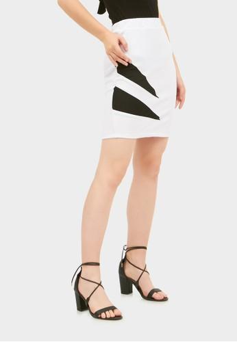 RAOFE white Double Edge Skirt 97411AA6CB33B7GS_1
