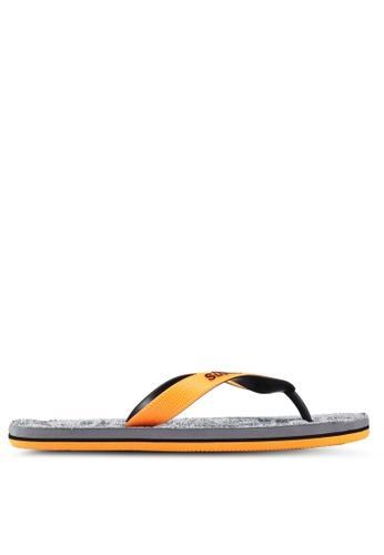 Superdry grey Scuba Grit Flip Flops 019C3SH06C9D51GS_1
