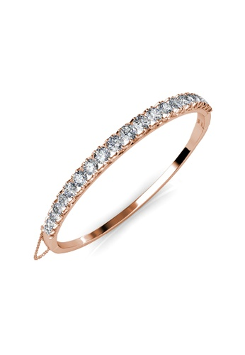 Her Jewellery gold Xena Bangle - Made with premium grade crystals from Austria 48DDDAC9E0560FGS_1