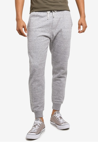 MANGO Man grey Cotton Jogging Trousers C44A9AA1401D19GS_1