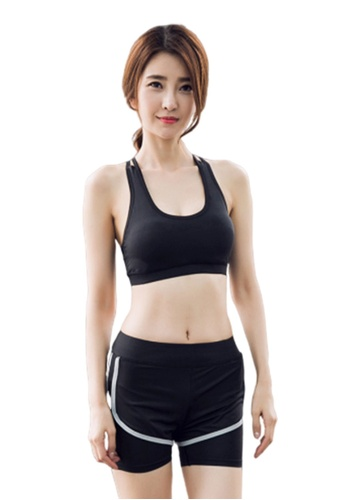 B-Code black ZYG3017-Lady Quick Drying Running Fitness Yoga Sports Bra -Black A5C37US5B0FECEGS_1