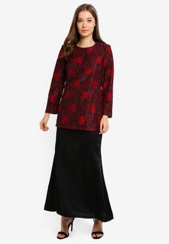 Butik Sireh Pinang black Baju Kurung Moden Elena E8E48AA022259FGS_1