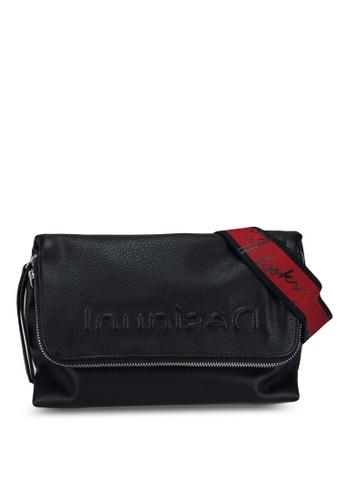 Desigual black Block-Colour Zipped Bag 4F463AC69A5263GS_1