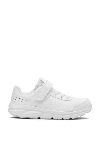 Under Armour white UA Assert 8 Uniform Synthetic AC Shoes 9C93CKS761A09DGS_1