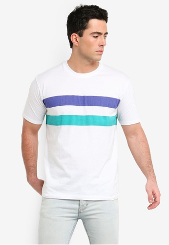 Factorie 多色 短袖條紋T恤 2331BAA927C835GS_1