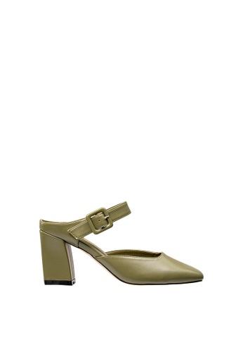 SEMBONIA green Women Synthetic Leather Mules 2AFD5SH5E00ECDGS_1