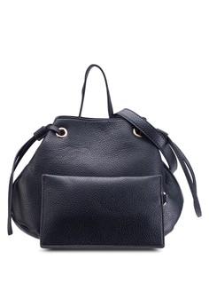 Unique Drawstring Bucket Bag With Wristlet