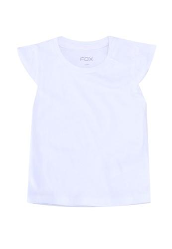 FOX Kids & Baby white Cap Sleeves Tee C4ADDKA797B476GS_1