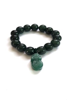 Feng Shui Jade Money Catcher Pi Yao Bracelet Big