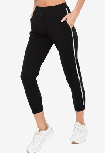 361° black Cross Training Knit Cropped Pants 2B8C2AAE596E21GS_1