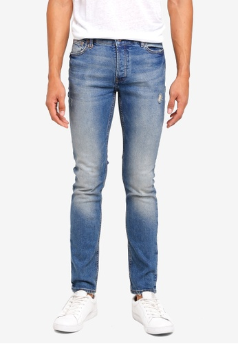 MANGO Man blue Slim-Fit Dark Vintage Wash Tim Jeans F8DA3AAD0BC348GS_1