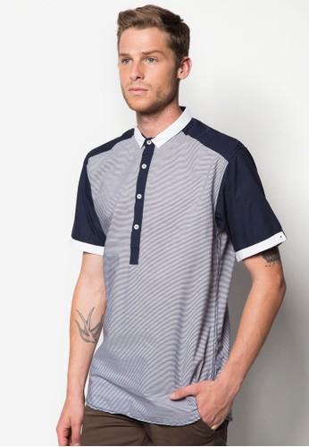 Pigue 撞色拼接POLOzalora 順豐 衫, 服飾, Polo衫