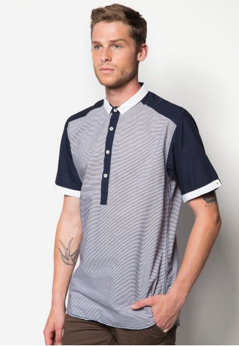 Pigue 撞色拼接POLO esprit 雨傘衫, 服飾, Polo衫