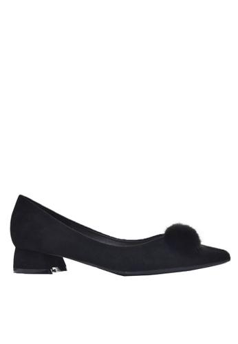 Twenty Eight Shoes black Fur Bow Low Heel 333-31 498E1SH863FD81GS_1