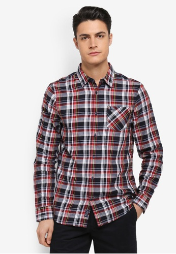 Jack Wills red and navy Salcombe Lw Flannel Check Shirt 64816AA149F085GS_1