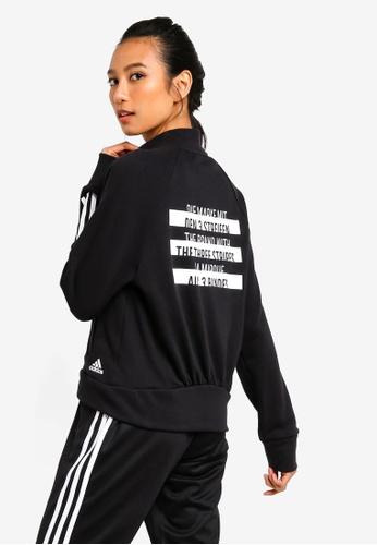 af3606a2b adidas black adidas performance sport id bomber jacket 9E496AA0BD9B78GS_1