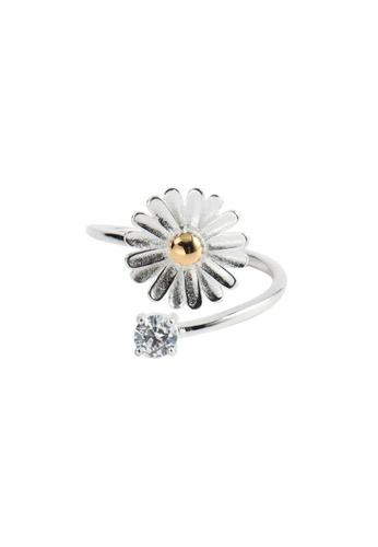 OrBeing 白色 Premium S925 Sliver Flower Ring C66D8ACE1205EBGS_1