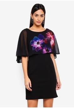 160bc9b065d Wallis black Petite Black Floral Print Shift Dress C84DFAA5D64271GS 1