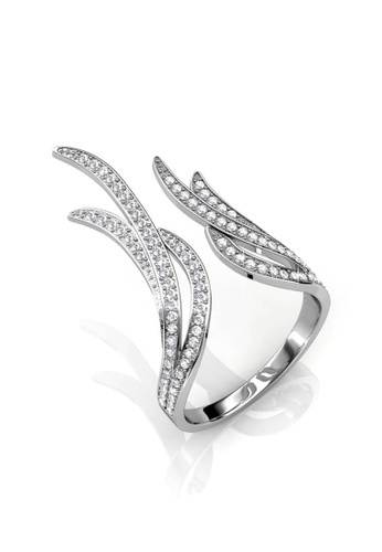 Her Jewellery silver Frayel Ring - Made with Premium grade crystals from Austria 68D11ACC1ED887GS_1