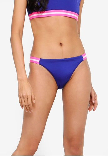 Factorie blue High Cut Cheeky Bikini Bottom With Side Tape 6C531USC7B683EGS_1