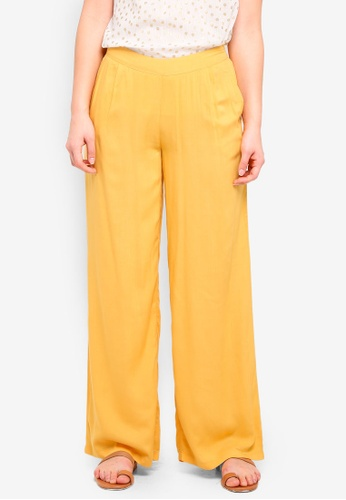 ICHI yellow Dipta Pants 0382EAAF125F5FGS_1