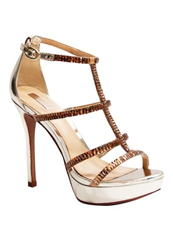 Covet gold Schutz Isabella Ankle Strap Heels CO331SH52EMDPH_1