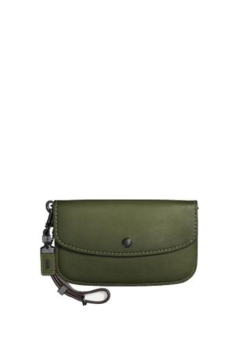Coach green Leather Clutch (cv) CA4B9AC601425EGS_1
