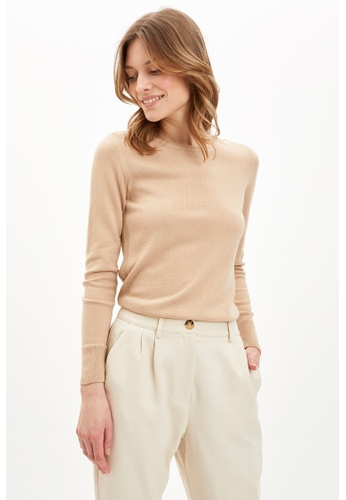 DeFacto brown Woman Tricot Pullover 12B0FAA9DD9C17GS_1