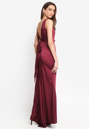 Miss Selfridge red Fishtail Maxi Dress 67CBEAA48DFD0DGS_1