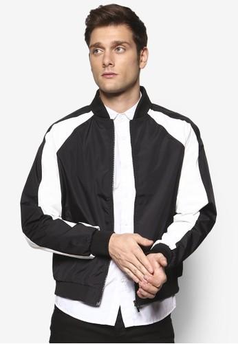 撞色拼接拉esprit香港門市克蘭長袖棒球外套, 服飾, 輕薄外套